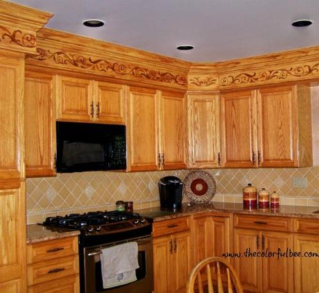 a creative way to disguise ugly kitchen soffits