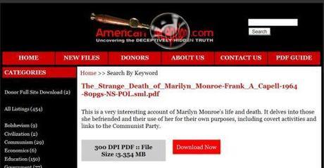 American Deception-Marilyn Monroe File