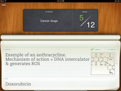 Flashcard about doxorubicin