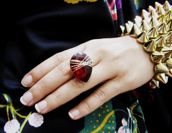 DIY: Revamp A Pendant Into A Wire-Wrapped Gem Ring