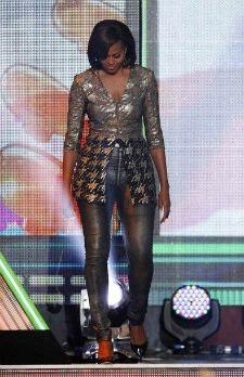 Michelle Obama in Skinny Jeans Most Memorable Fashion Moments of 2012