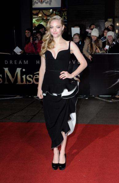 Amanda Seyfried Dress 'Les Miserables' London Premiere Wearing Balenciaga 4 Most Memorable Fashion Moments of 2012