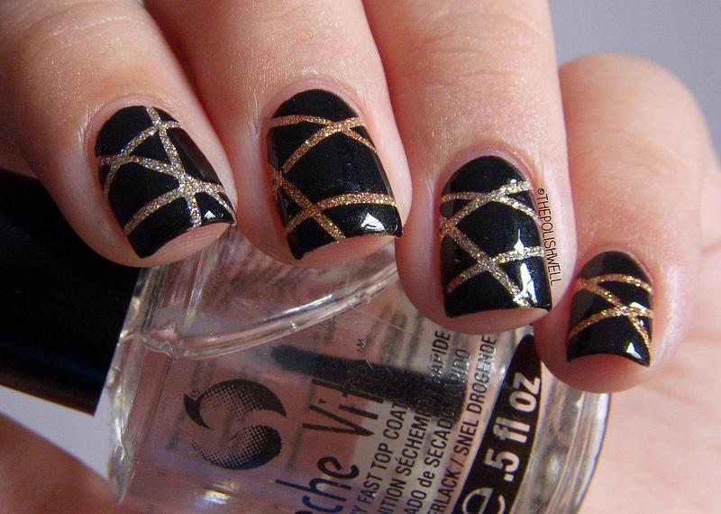 nail-art-new-year-eve-laser-tape10