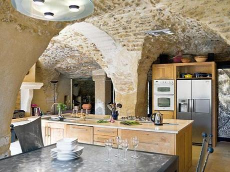 original stonework in a Provence kitchen