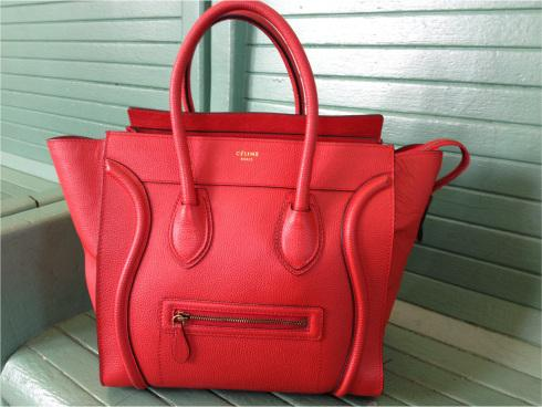 celine totes sale - celine red handbag