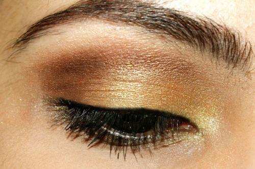 guest post gold rush makeup tutorial paperblog