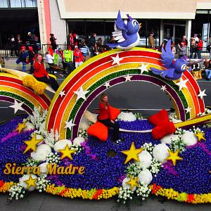 The Sierra Madre Rose Float Association won the Isabella Coleman Trophy for its entry,