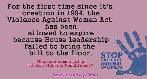 for the first time since it's creation in 1994 the violence against women act has been allowed to expire