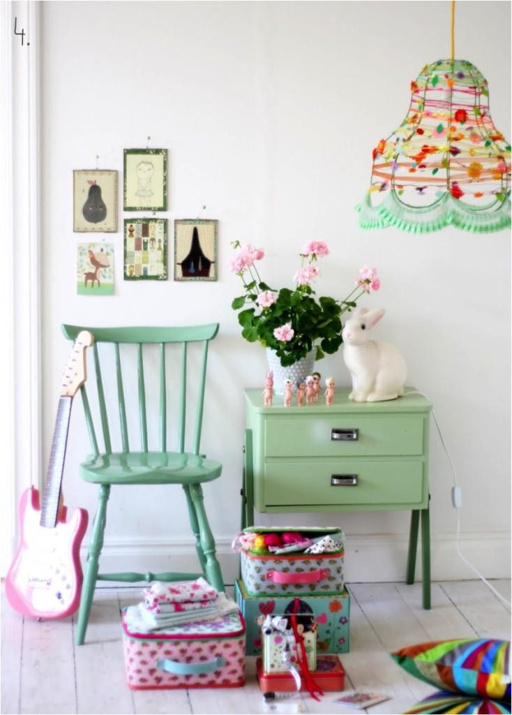 Pretty pastel rooms…