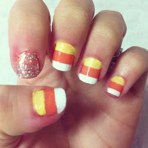 Tutorial Candy Corn Nails