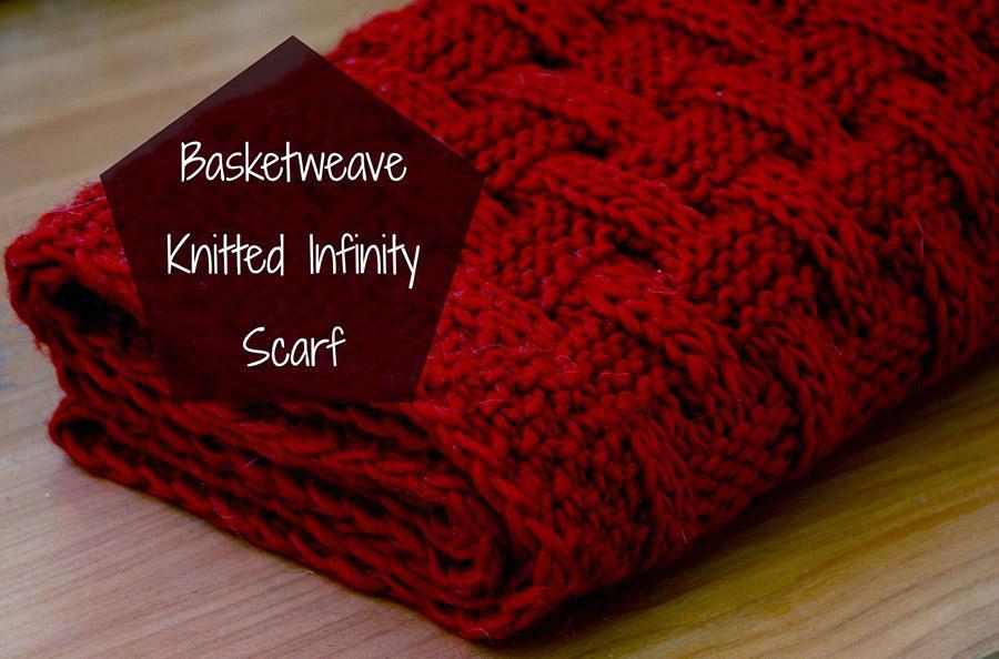 Basketweave Knitted Infinity Scarf Paperblog