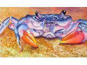 Blue Crab Mixed Media Painting