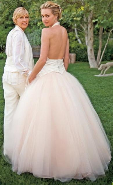 Who were the best dressed celebrity brides paperblog for Portia de rossi wedding dress