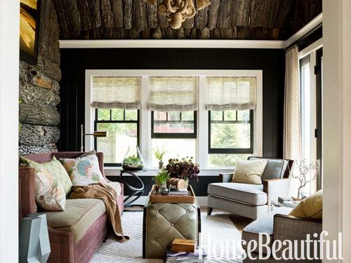 Pittsburgh Paint color Black Magic used in a design by Thom Filicia