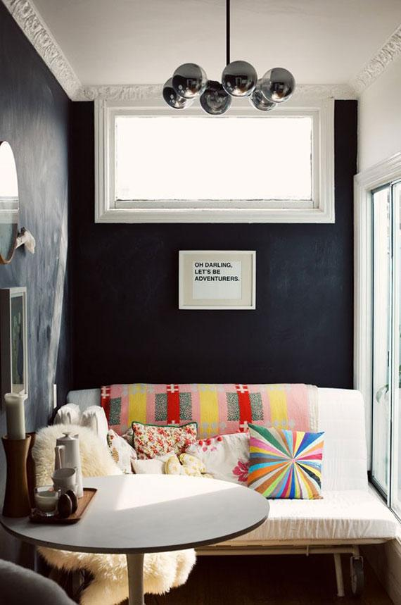 even in small spaces, black is beautiful