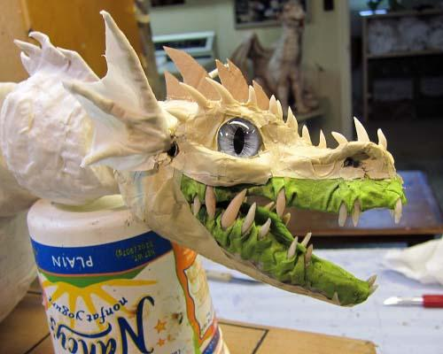 Paper Mache Drogon: Young Adult Version- scale-ish skin. | Gourmet ... | 400x500