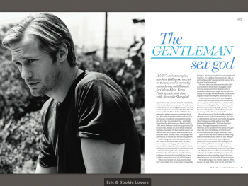 Alexander Skarsgård In Red UK Magazine