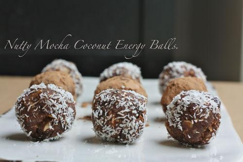 Nutty Mocha Coconut Energy Balls {Gluten Free & Vegan!}