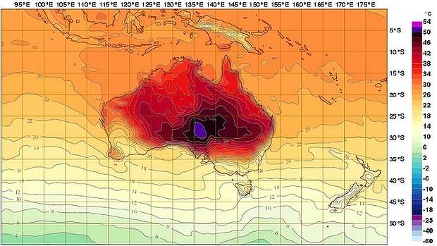 Burning 'Deep Purple': Australia So Hot New Color Added to Index