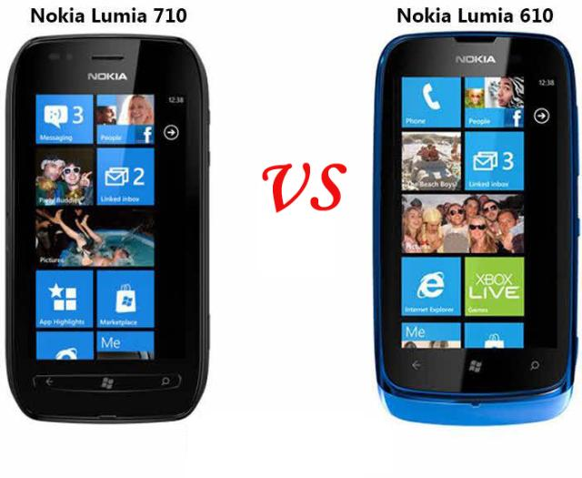 nokia lumia 610 vs nokia lumia 710 paperblog. Black Bedroom Furniture Sets. Home Design Ideas