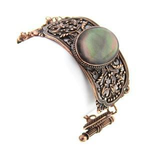 mother of pearl cuff toggle bracelet