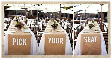 pick your seat wedding tables via junk shop bride