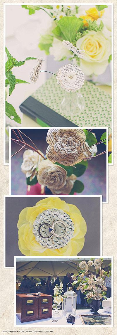 Paper wedding flowers via Discover Paper blog