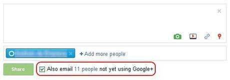 Sharing Google+