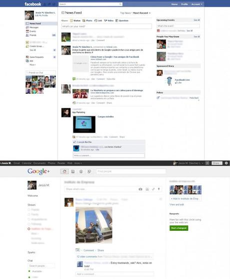 Compare Google+ Facebook