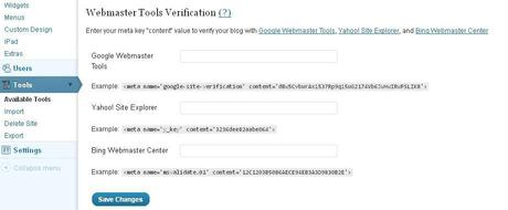 Wordpress.com Google verification