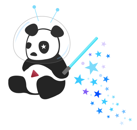 Cosmic Panda Logo Youtube