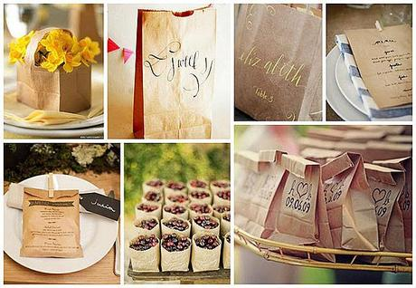 Paper Bag Wedding Inspiration from Before the Big Day UK wedding blog