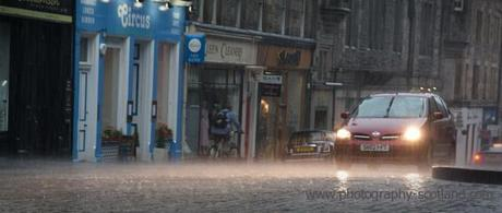 Photo - Edinburgh's High Street is hit by a sudden downpour