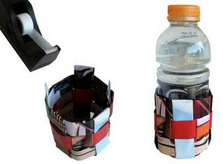 Recycled Magazine Cup Holder