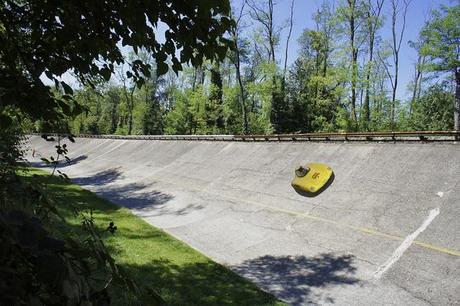 On the banking at Monza