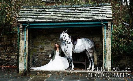 Horse and bride lifestyle photography Chris Hanley