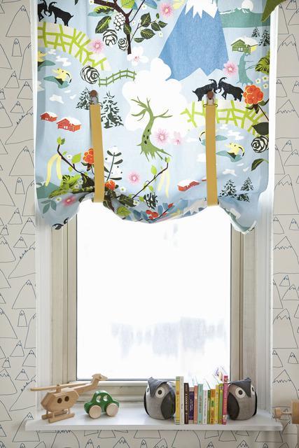 suspender curtains (Amanda Kingloff in Parents June 2011)