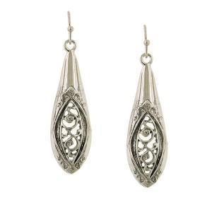 vintage hollow spoon handle earrings