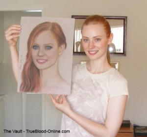Deborah Ann Woll poses with her Portrait