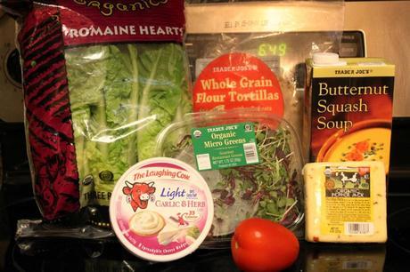 Butternut Squash Soup & Gourmet Salad Flatbread