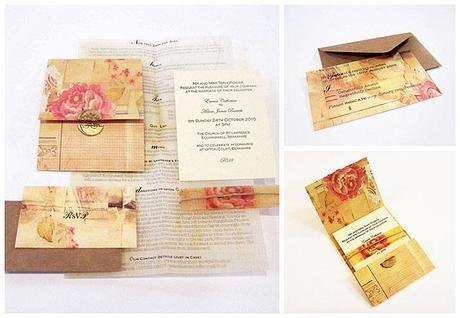 vintage wedding invitation by Ally Hay via Before the Big Day