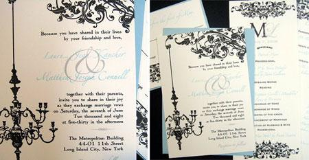 vintage wedding invitations via Ruffled blog