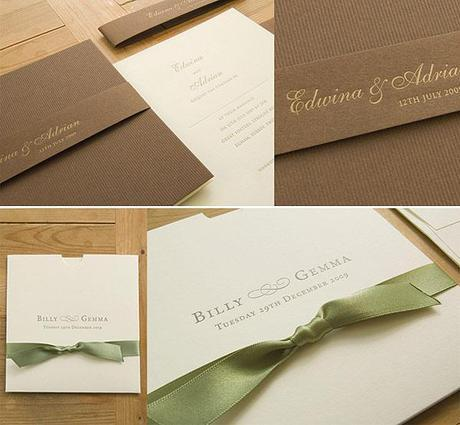 Vintage letterpress wedding invitations from Cardlab in the UK