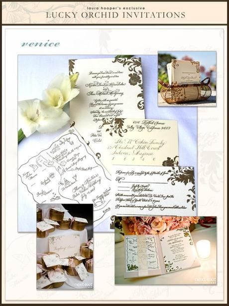 vintage calligraphy invitations by Laura Hooper calligraphy
