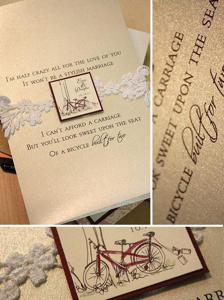 Vintage inspired wedding invite from Momental Designs