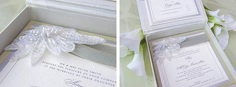 Vintage couture wedding invitations from Wanderlust Cards in Scotland