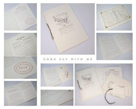 Vintage wedding invitation by PrettyWild UK wedding stationery