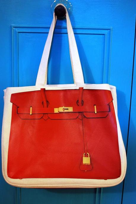 thursday friday red birkin bag front view