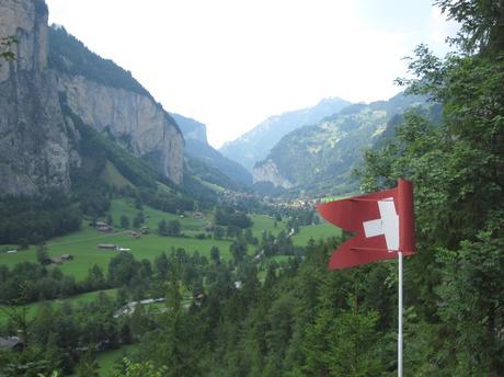 The amazing mountains Lauterbrunnen in Jungfrau region of Switzerland