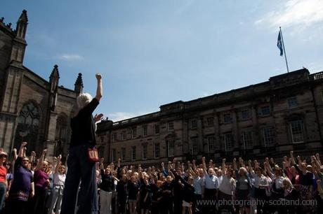Photo - fundraising event for Wateraid: 'Big Sing' Edinburgh, Scotland
